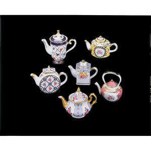 Miniature Tea Pots, Set of 6