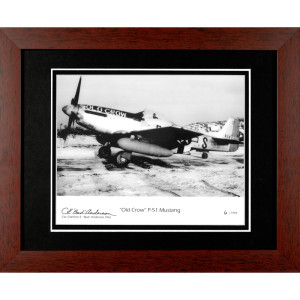 """Old Crow"" P-51 Mustang Autographed Framed Photograph"