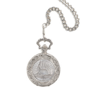 Statue of Liberty Commemorative Coin Pocket Watch