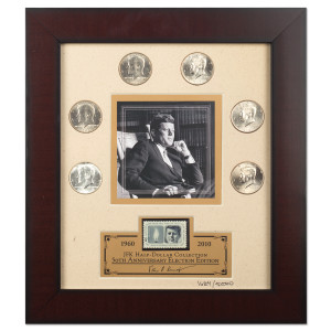 JOHN F. KENNEDY JFK HALF DOLLAR COLLECTION FRAMED PRINT