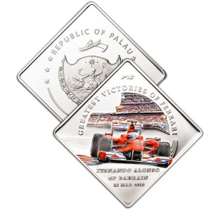 PALAU 1 DOLLAR FERRARI GREATEST VICTORIES INGOT