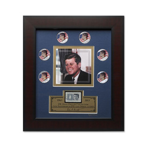 JFK HALF-DOLLAR COLLECTION FRAMED PRINT - LAST SPEECH