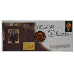 RONALD REAGAN MEMORIAL STAMP FIRST DAY COVER