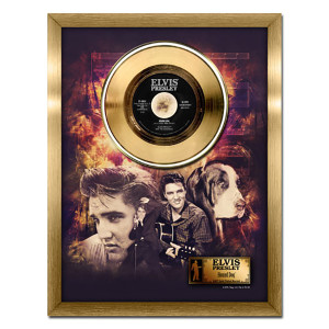 Elvis Presley Hound Dog - 24kt gold record