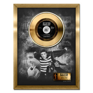 Elvis Presley Jailhouse Rock - 24kt gold record