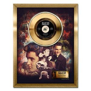 Elvis Presley Heartbreak Hotel - 24kt gold record