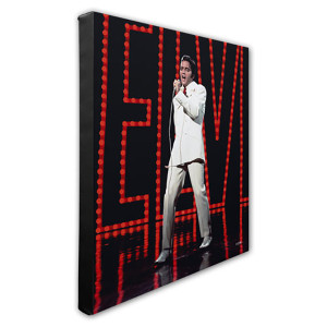 Elvis Presley Wearing White Suit (#5) Stretched Canvas