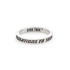 Star Trek x RockLove Sterling Intro Stacker Ring - To Seek