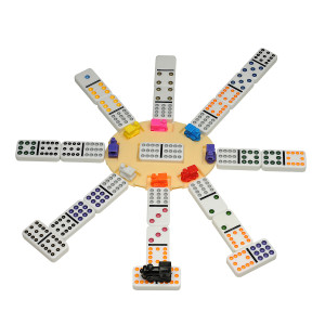 Deluxe Mexican Train Dominoes in a Wood Box