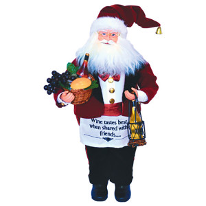 """Wine Steward Santa 18"""""""
