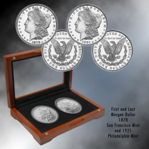 First & Last Morgan Silver Dollars