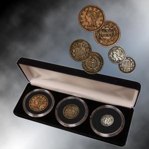 Large Cent, 2, 3 Cents