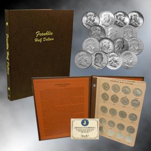 Complete Franklin Half  Dollar Collection (Dansco Album)