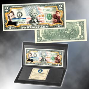 "Elvis ""Americana"" Colorized $2 Bill"