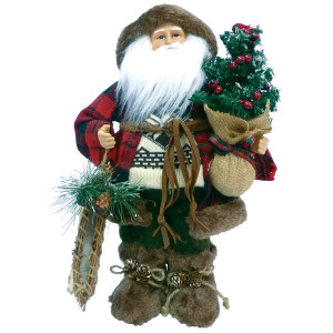 Woodsman Santa with Canoe 16""