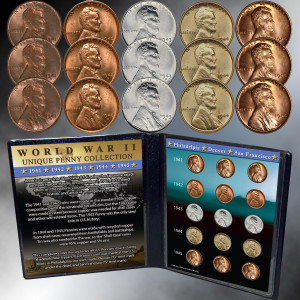 WWII Unique Penny Collection