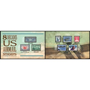 Eight Decades of U.S. Airmail Stamps