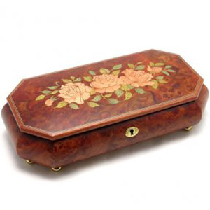 Inlaid Roses Jewelry Box
