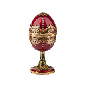 Beaded, Enameled Egg Music Box 4""