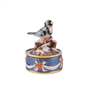 Elegant Enameled Bird
