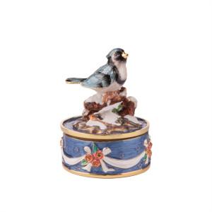 Elegant Enameled Bird