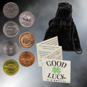 Pouch Of 7 Lucky Coins