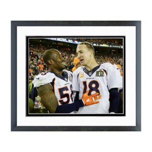 Von Miller and Peyton Manning Super Bowl 50