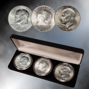 First Last & Bicentennial Eisenhower Dollars