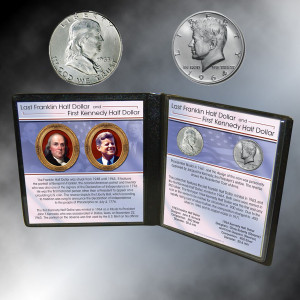 Last Franklin First JFK Silver Half Dollars