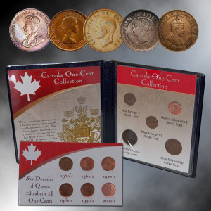 Canada One-Cent Collection W/Free 6 Decades of Queen Elizabeth 2 Cents