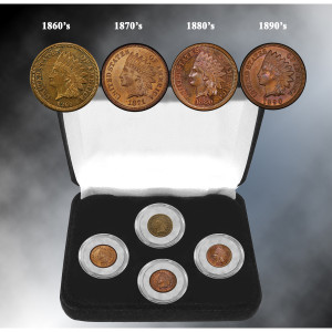 19th Century Indian Head Penny Decade Collection