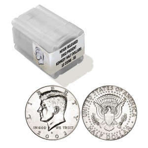 Collector's Roll of Never-Released JFK Half Dollars
