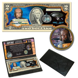 """Star Trek:TNG Coin & Currency Set - """"Worf"""""""