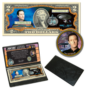 "Star Trek:TNG Coin & Currency Set - ""Data"""