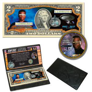 """Star Trek:TNG Coin & Currency Set - """"La Forge"""""""
