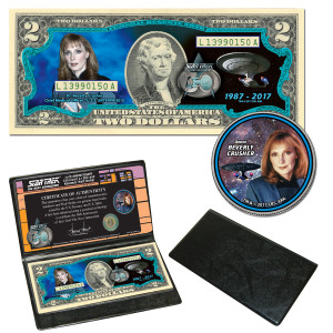 """Star Trek:TNG Coin & Currency Set - """"Beverly Crusher"""""""