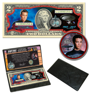 """Star Trek:TNG Coin & Currency Set - """"Will Crusher"""""""