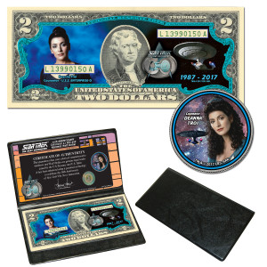 Star Trek:TNG Coin & Currency Set - Deanna Troi""