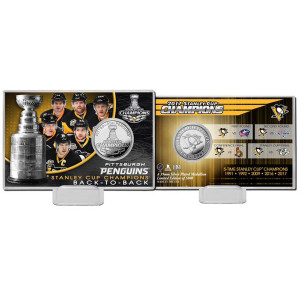 2017 Stanley Cup Champions Silver Coin Card