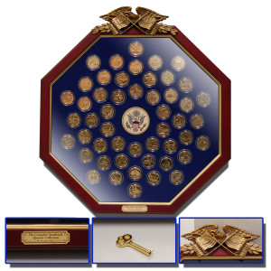 Fifty State Quarters - in 24K Gold/Octagon Frame