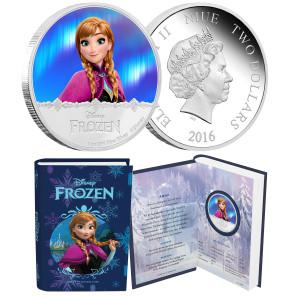 """Disney Frozen """"Anna"""" 1oz Silver Coin"""
