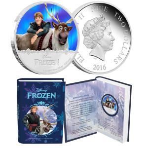 "Disney Frozen ""Kristoff & Sven"" 1oz Silver Coin"