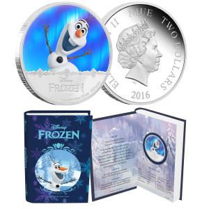 """Disney Frozen """"Olaf"""" 1oz Silver Coin"""