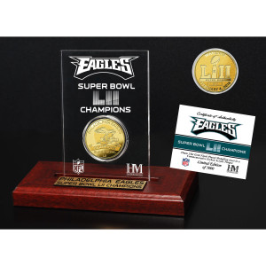 Philadelphia Eagles Super Bowl 52 Champions Gold Coin Etched Acrylic