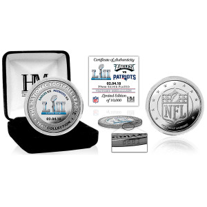 Philadelphia Eagles Super Bowl 52 Victory Silver Color Coin