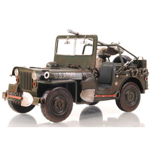 Green 1940 Willys-Overland Jeep 1:12