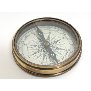 Beetles Compass w leather case