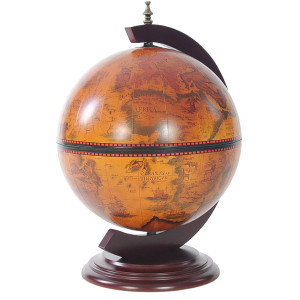 Red Globe 13 inches with Chess Holder