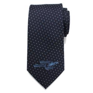 Star Trek Enterprise Dot Blue Stripe Men's Tie