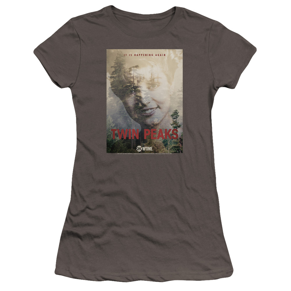 Twin Peaks Laura Palmer It's Happening Again Women's Slim Fit T-Shirt - Charcoal